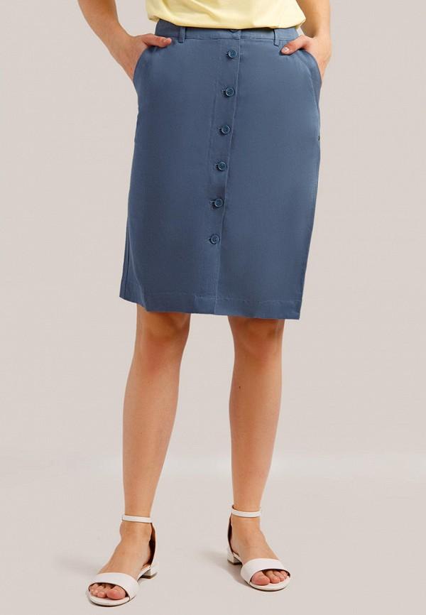 женская прямые юбка finn flare, голубая
