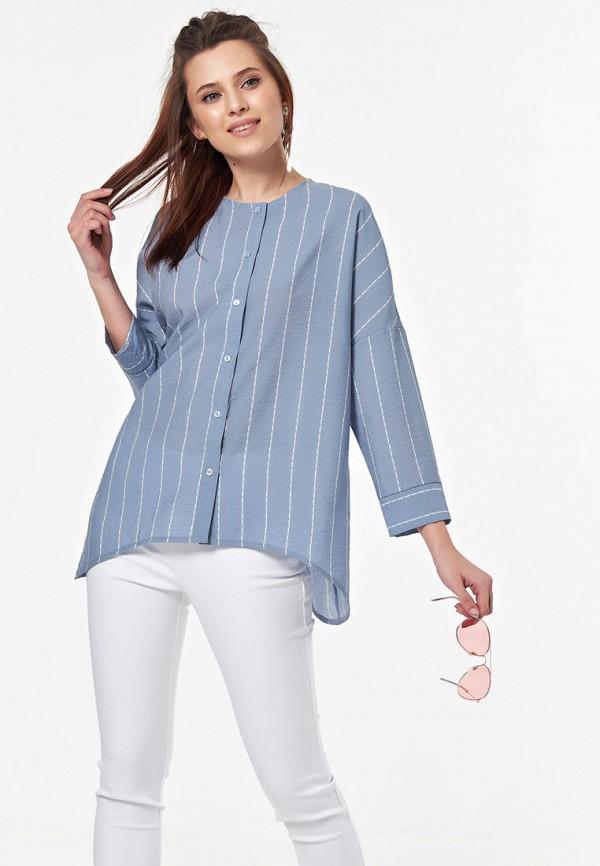 женская блузка fly, голубая