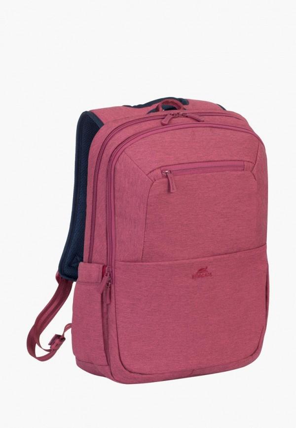 женский рюкзак rivacase, красный