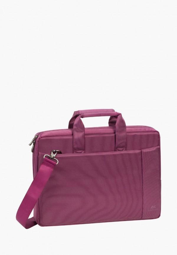 женская сумка rivacase, бордовая