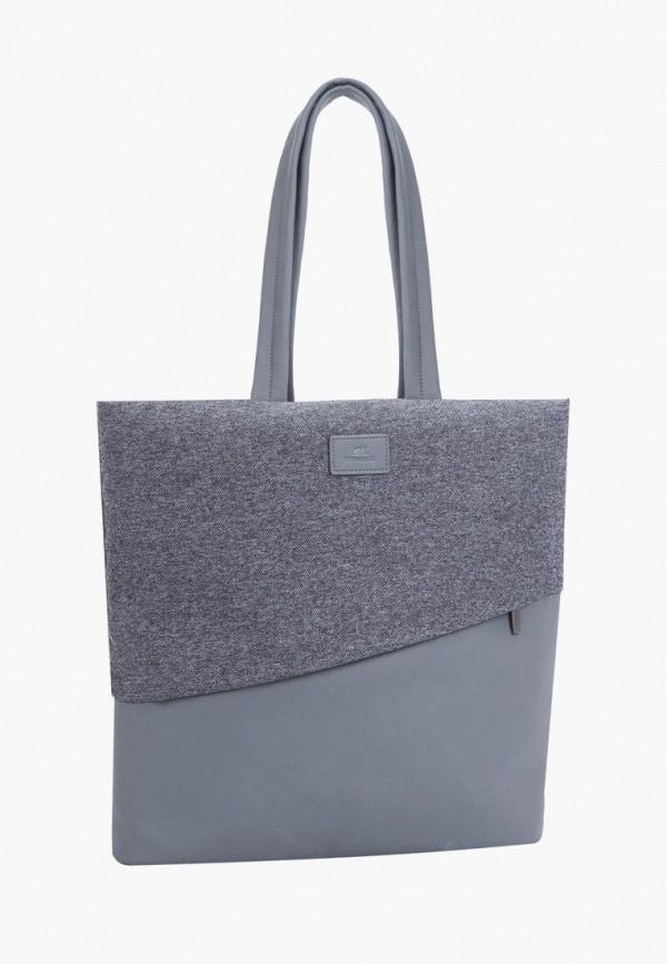 женская сумка rivacase, серая