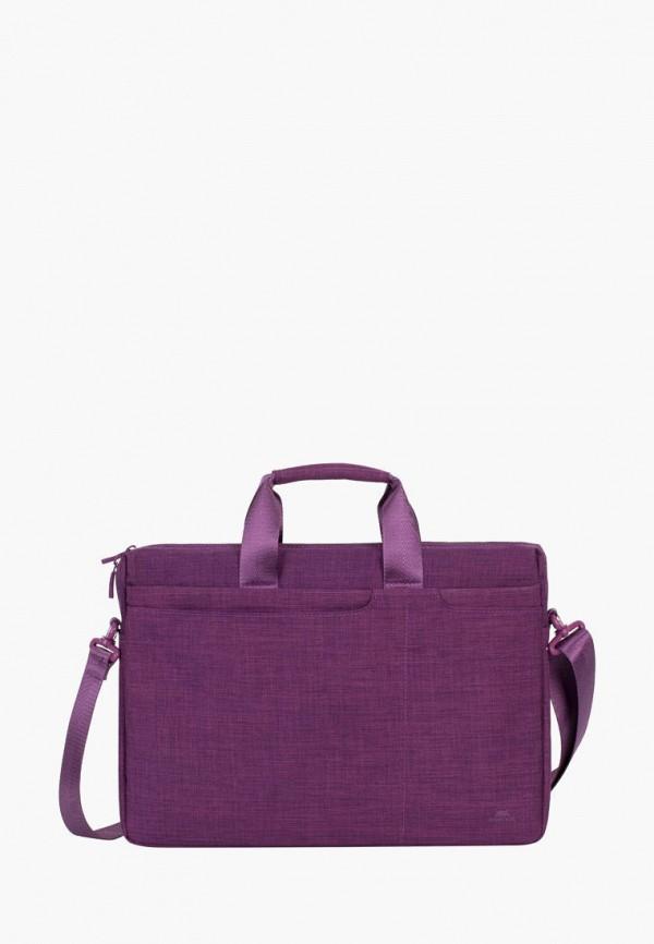 женская сумка rivacase, фиолетовая