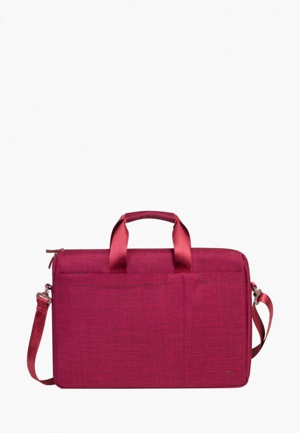 женская сумка rivacase, красная