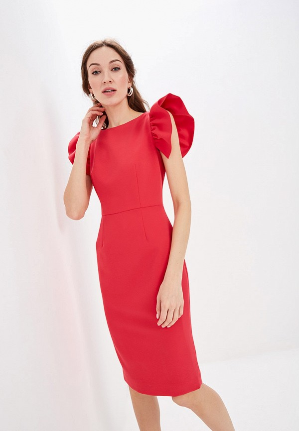 женское платье-футляр self made, розовое