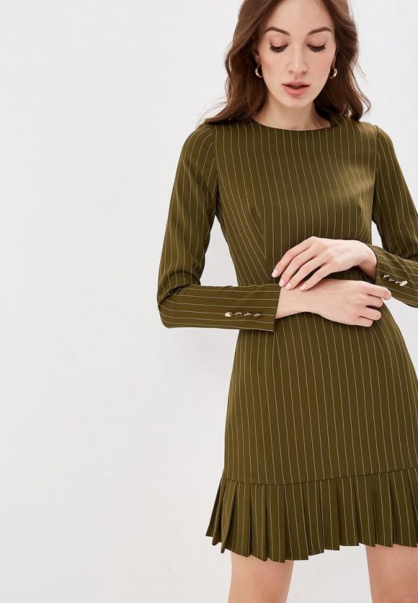 женское повседневные платье self made, хаки