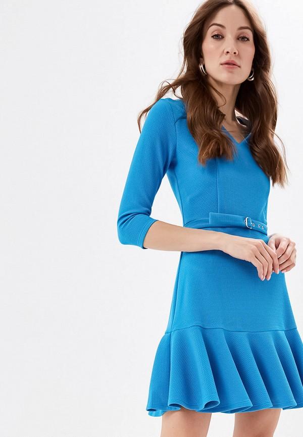 женское повседневные платье self made, голубое