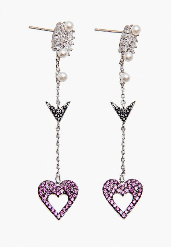 Серьги Kameo-Bis Kameo-Bis MP002XW021WI жен крупногабаритные прочее стразы серьги слезки секси крупногабаритные мода серебряный лиловый розовый волны серьги назначение