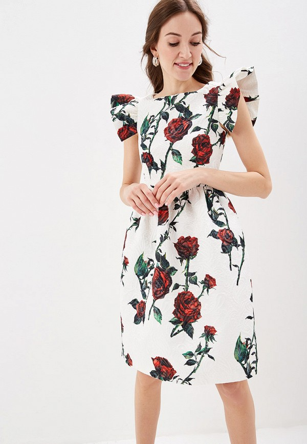 женское повседневные платье self made, белое