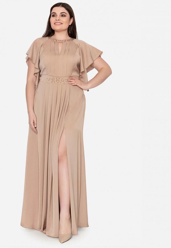 Платье Seam цвет бежевый