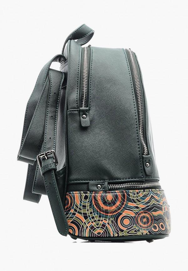 Фото 3 - Женский рюкзак Goroshek зеленого цвета