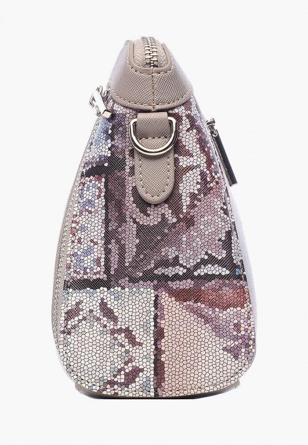Фото 2 - Женскую сумку Goroshek серого цвета