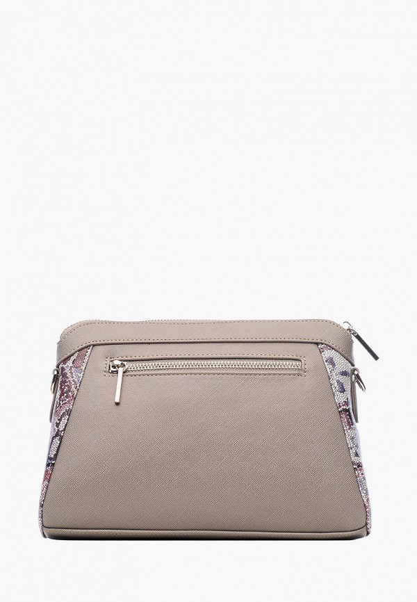 Фото 3 - Женскую сумку Goroshek серого цвета