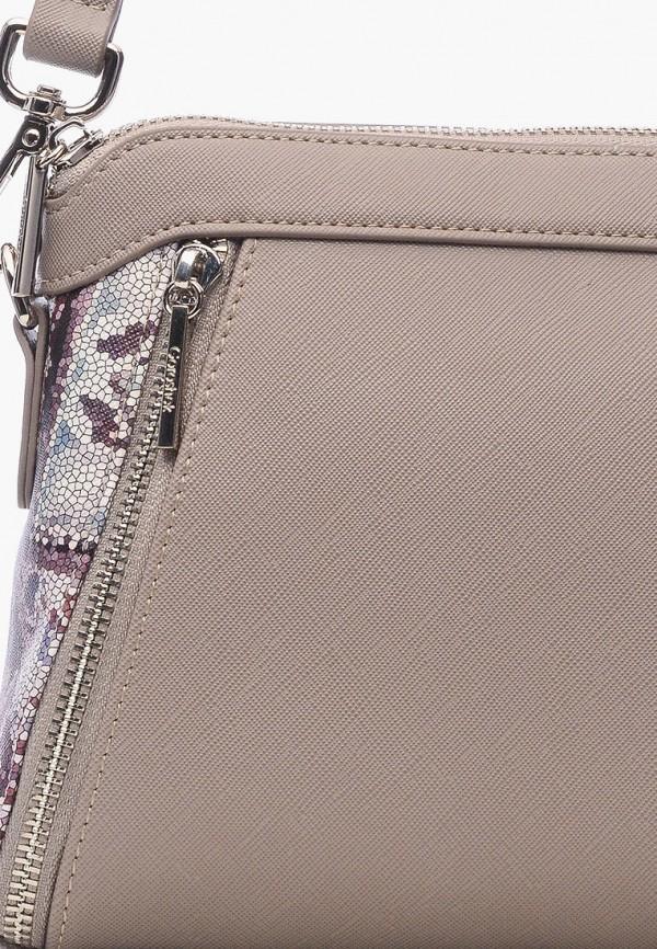 Фото 4 - Женскую сумку Goroshek серого цвета