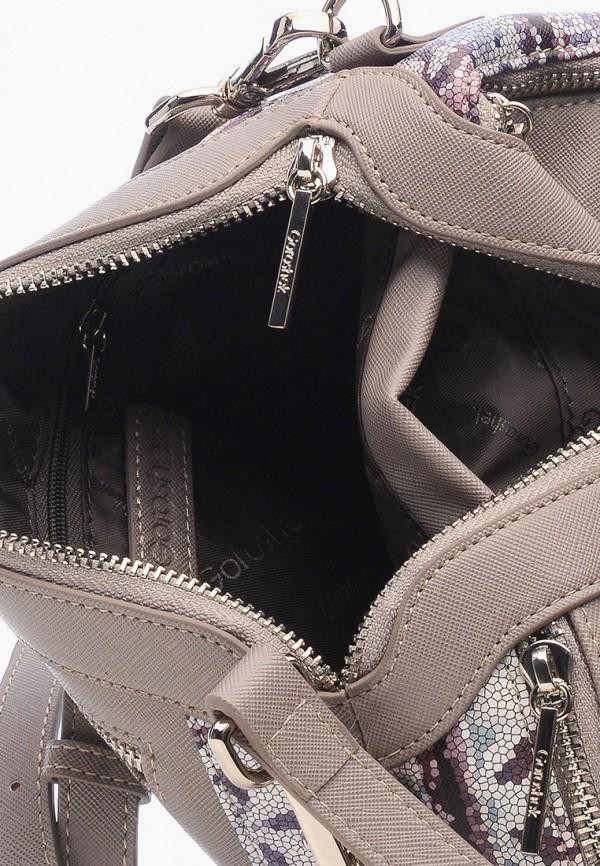 Фото 5 - Женскую сумку Goroshek серого цвета