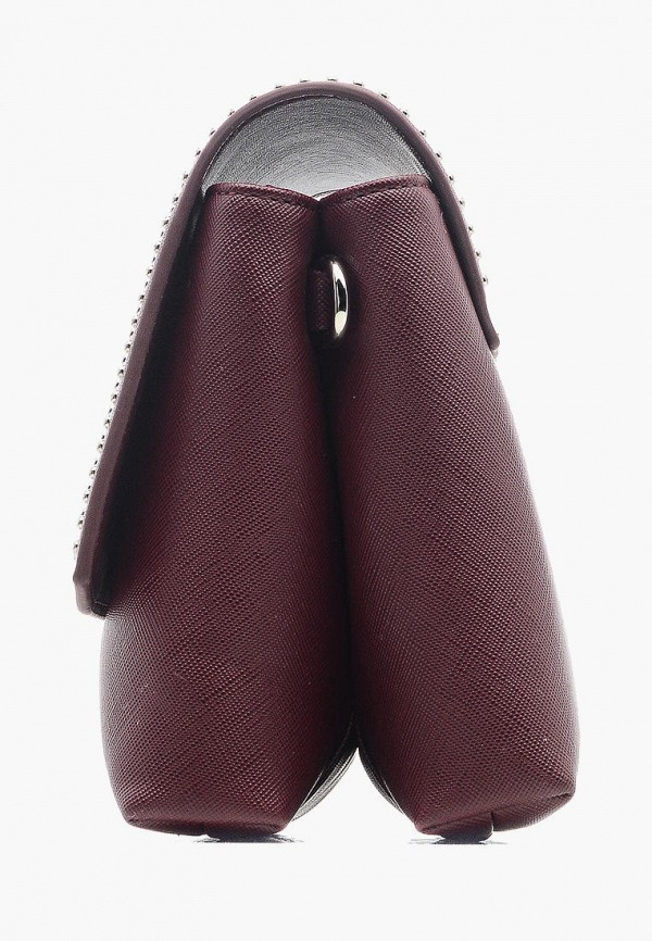 Фото 3 - Женскую сумку Goroshek бордового цвета