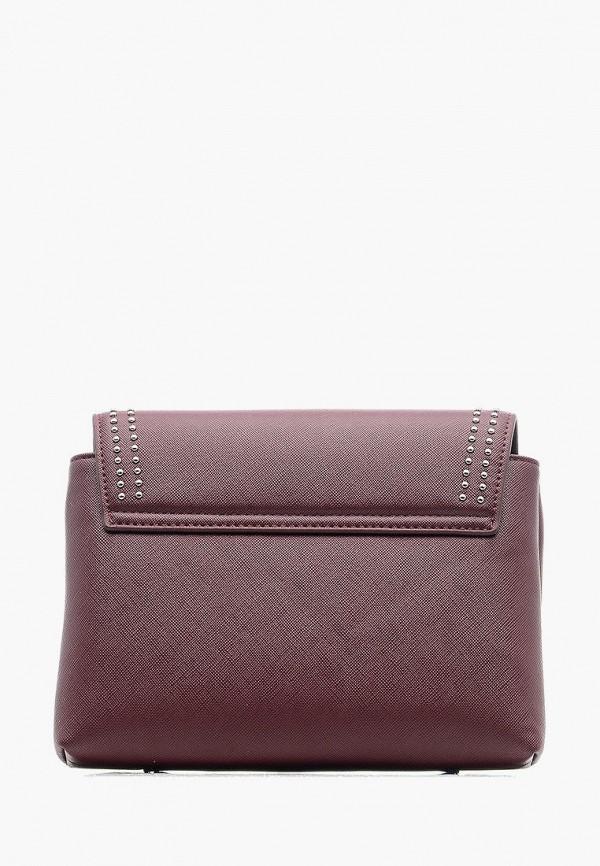 Фото 2 - Женскую сумку Goroshek бордового цвета