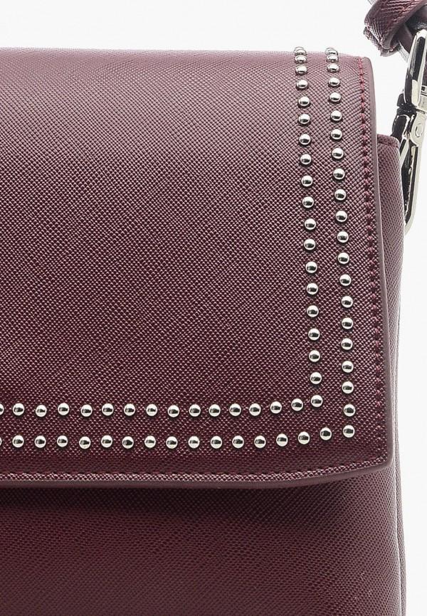 Фото 4 - Женскую сумку Goroshek бордового цвета