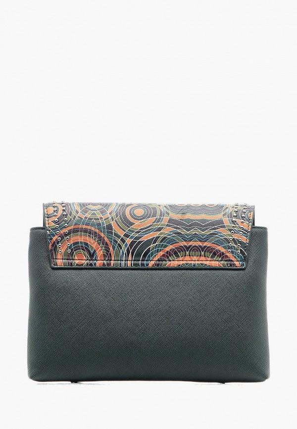 Фото 3 - Женскую сумку Goroshek зеленого цвета