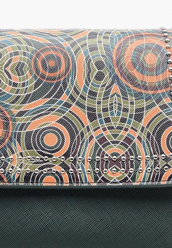 Фото 4 - Женскую сумку Goroshek зеленого цвета