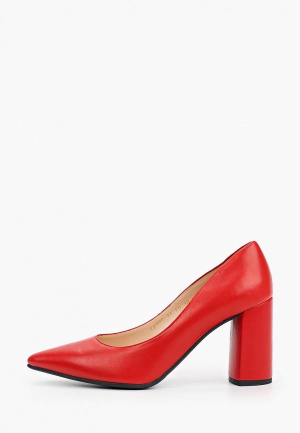 женские туфли с закрытым носом argo, красные