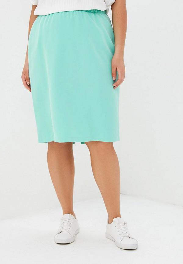 женская прямые юбка jp, бирюзовая