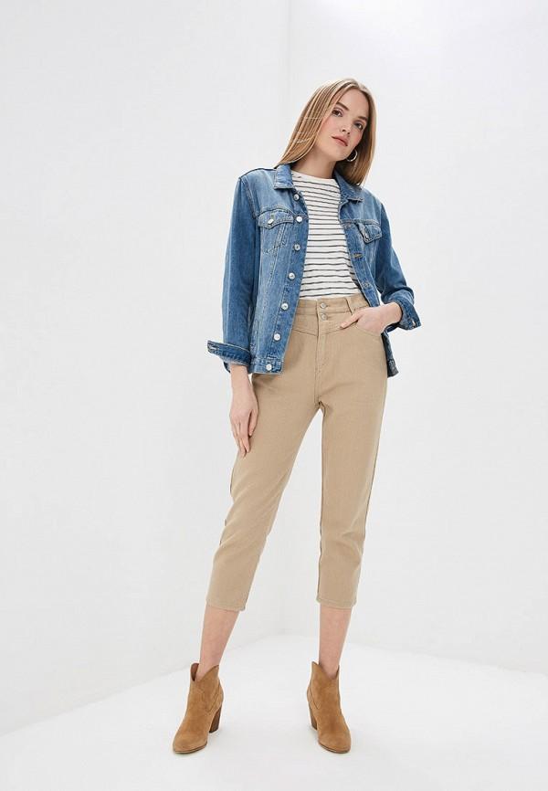 Фото 2 - Женские брюки Marissimo бежевого цвета