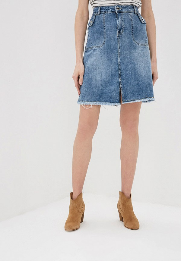 цена Юбка джинсовая Marissimo Marissimo MP002XW022SG онлайн в 2017 году