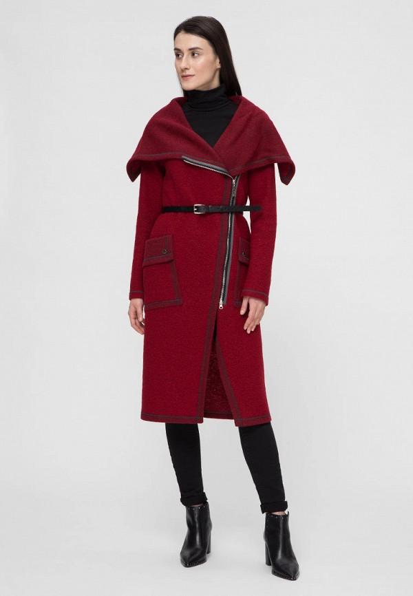 женское пальто victoria bloom, бордовое
