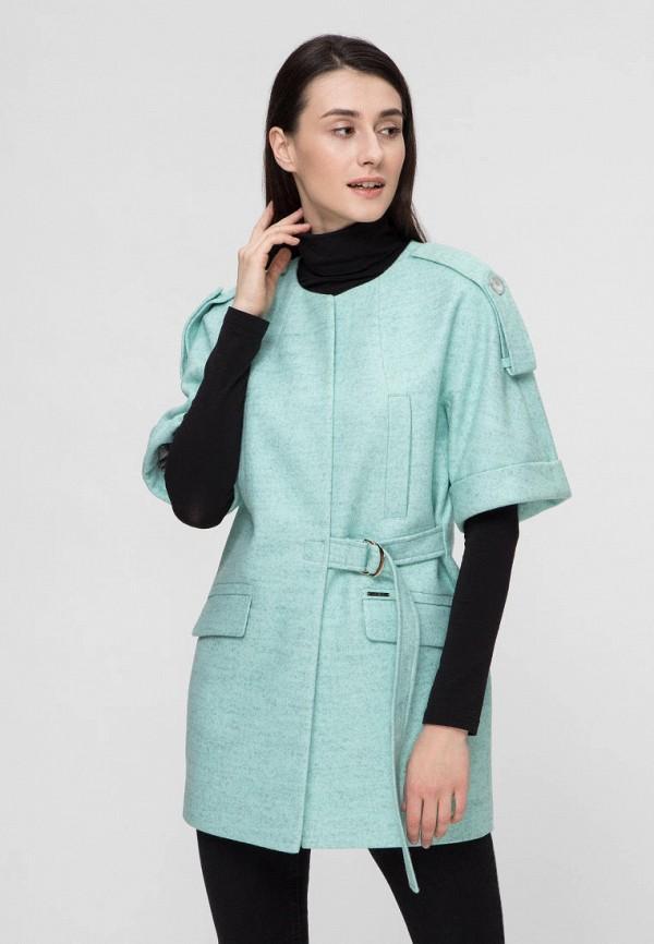 женское пальто victoria bloom, бирюзовое