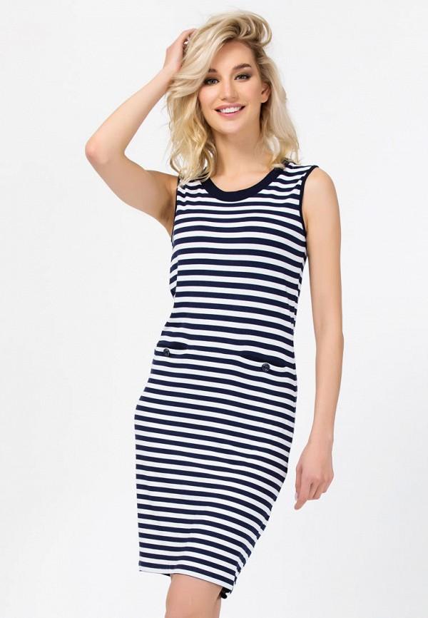 женское платье миди remix, синее