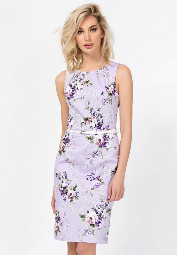женское платье миди remix, фиолетовое