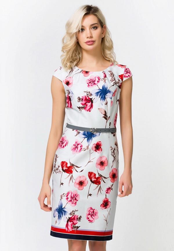 женское платье миди remix, белое