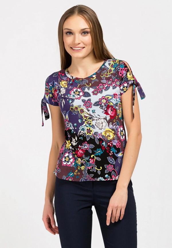 женская футболка remix, разноцветная
