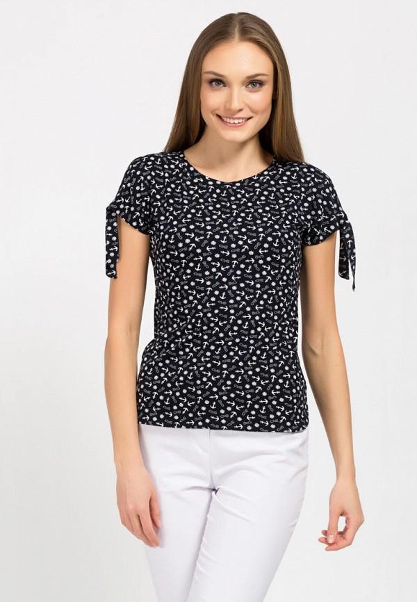 женская футболка remix, черная