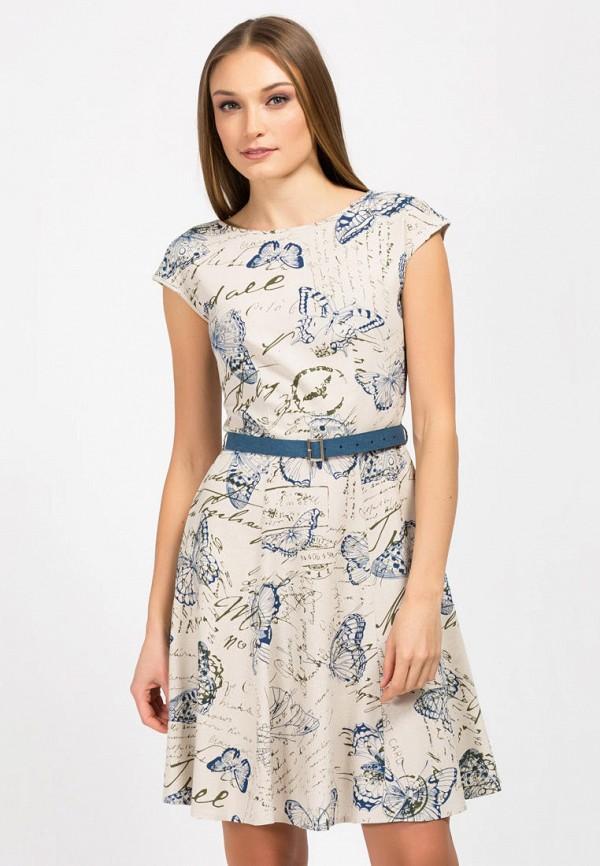 женское платье миди remix, бежевое