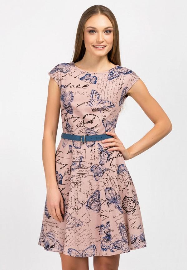женское платье миди remix, розовое