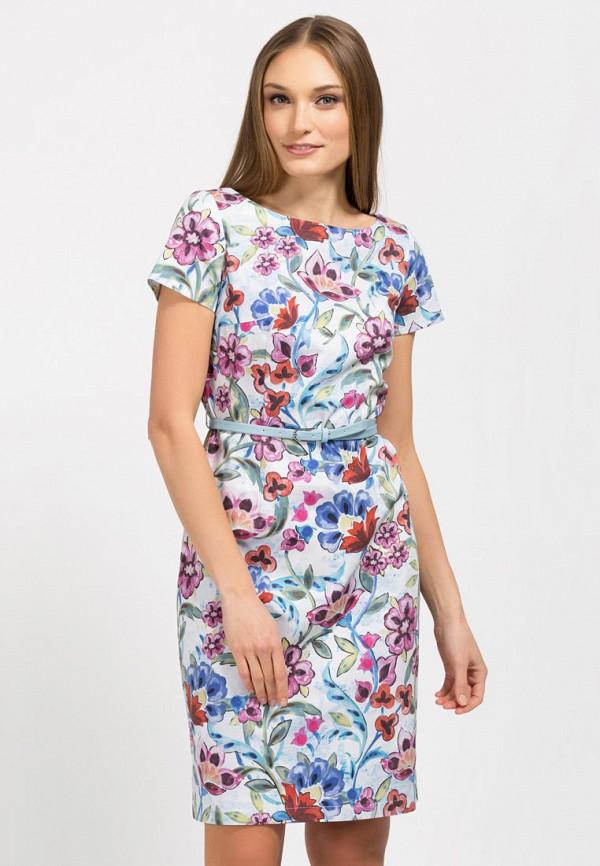 женское платье миди remix, разноцветное