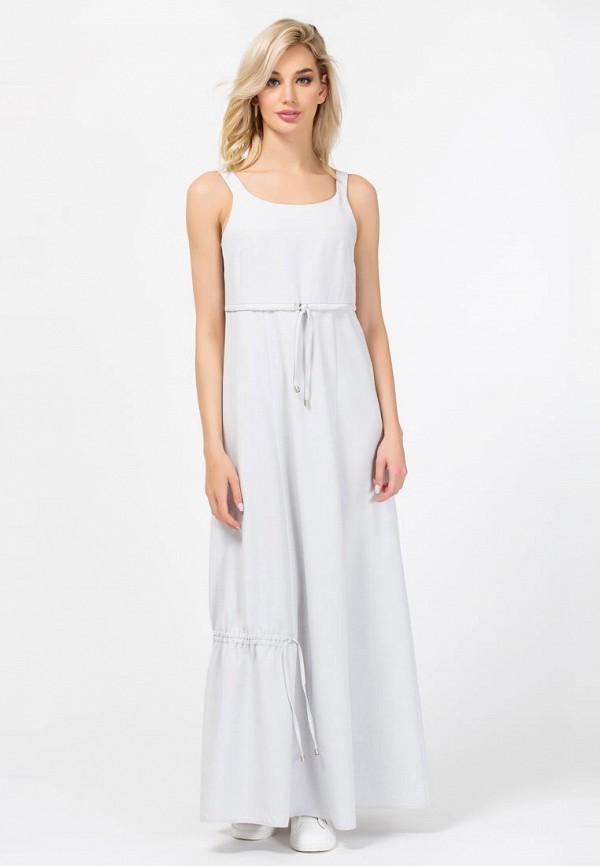 женское платье макси remix, серое