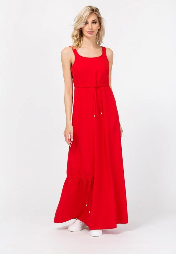 женское платье макси remix, красное
