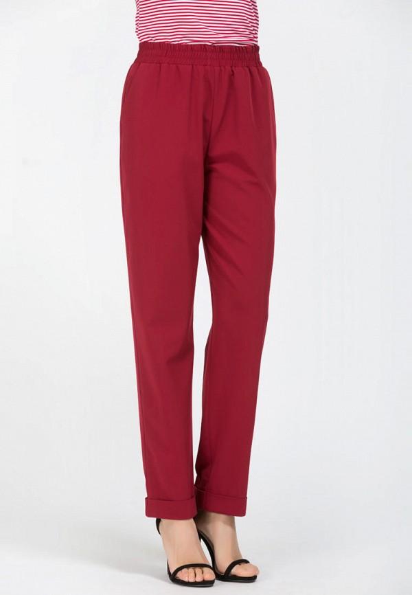 женские прямые брюки remix, бордовые