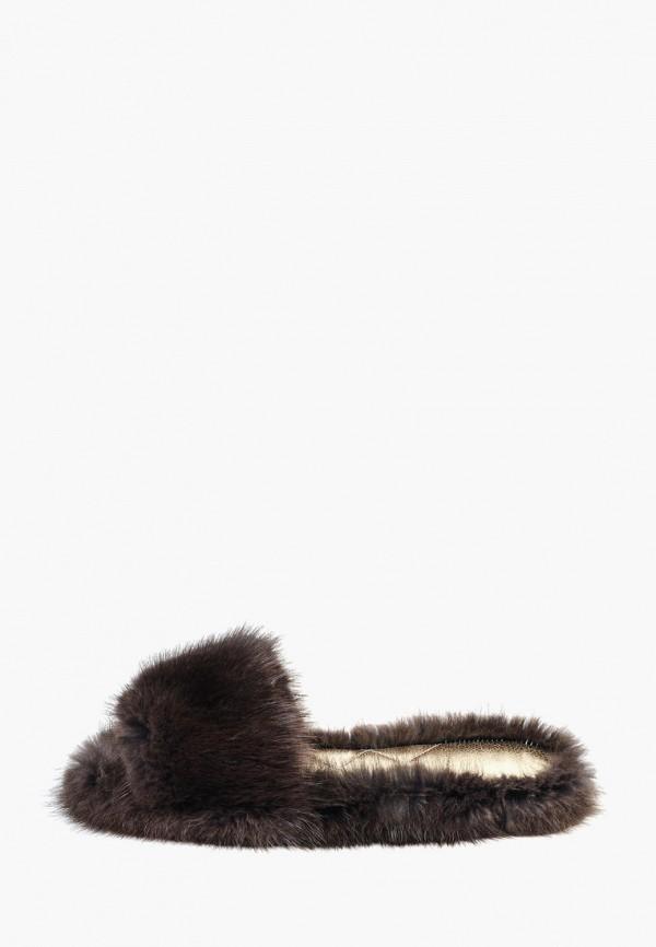 женские тапочки litvin, коричневые