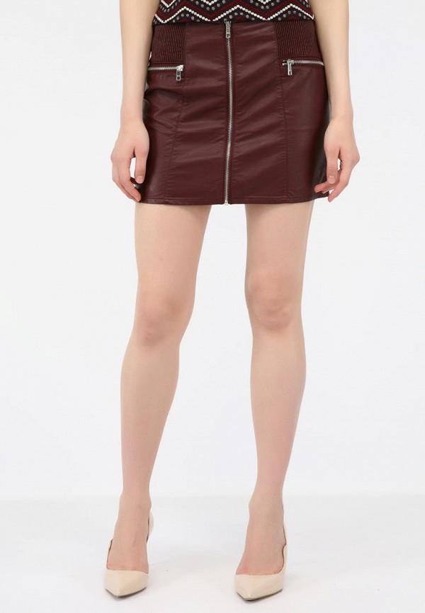 женская юбка alcott, бордовая