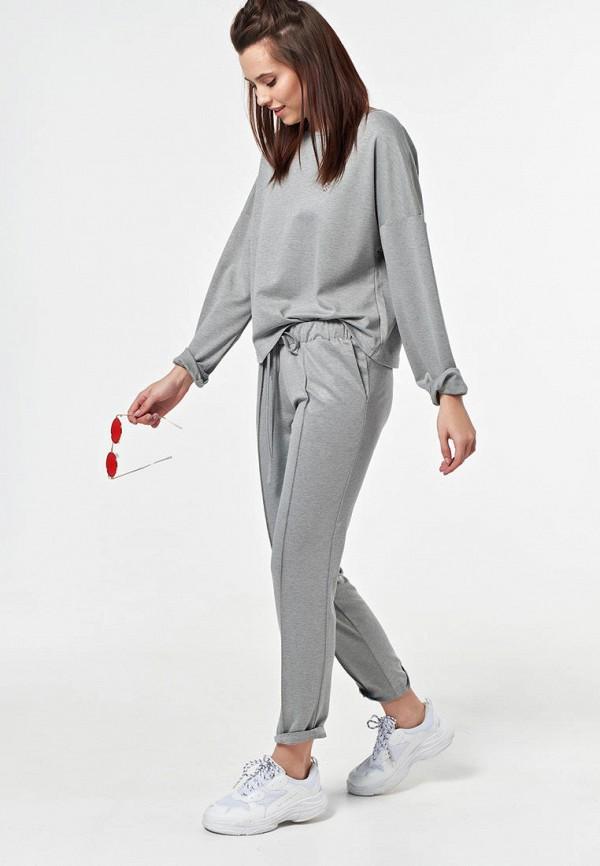 женский спортивный костюм fly, серый