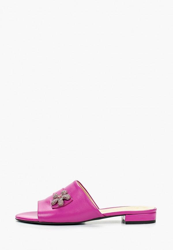 женское сабо argo, фиолетовое
