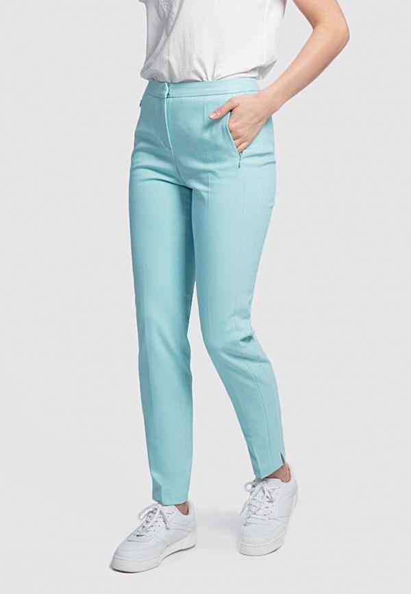 женские зауженные брюки pompa, бирюзовые