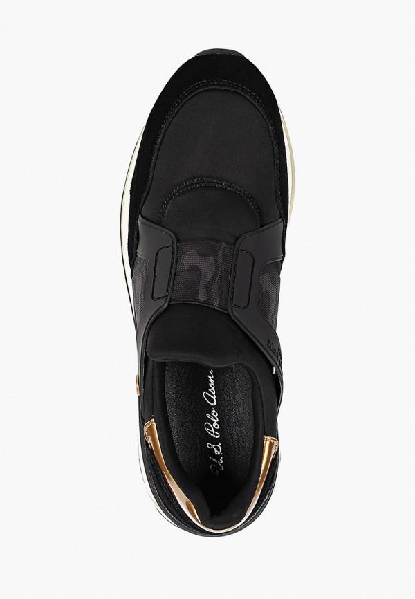 Фото 4 - Женские кроссовки U.S. Polo Assn. черного цвета