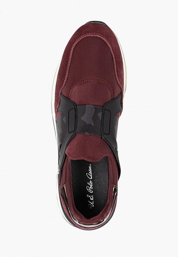 Фото 4 - Женские кроссовки U.S. Polo Assn. бордового цвета