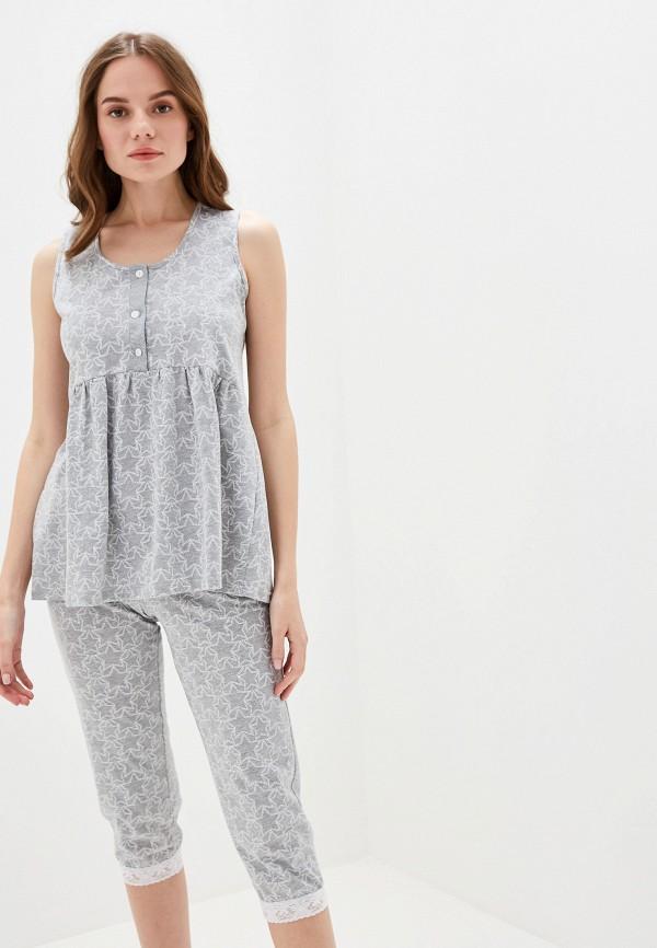 Пижама Lika Dress цвет серый  Фото 2