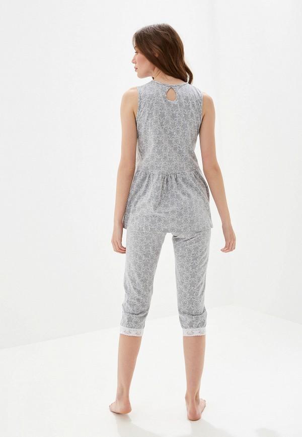 Пижама Lika Dress цвет серый  Фото 3