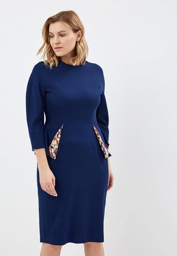 Фото - Платье Galina Vasilyeva Galina Vasilyeva MP002XW025M8 megir синий цвет 40